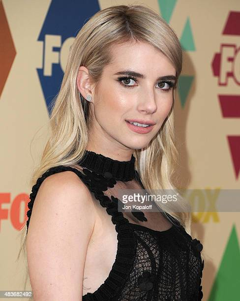 Actress Emma Roberts arrives at the 2015 Summer TCA Tour FOX AllStar Party at Soho House on August 6 2015 in West Hollywood California