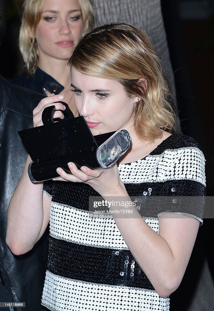Actress <a gi-track='captionPersonalityLinkClicked' href=/galleries/search?phrase=Emma+Roberts&family=editorial&specificpeople=226535 ng-click='$event.stopPropagation()'>Emma Roberts</a> arrives at the NYLON Magazine Annual May Young Hollywood Issue party held at the Hollywood Roosevelt Hotel on May 9, 2012 in Hollywood, California.