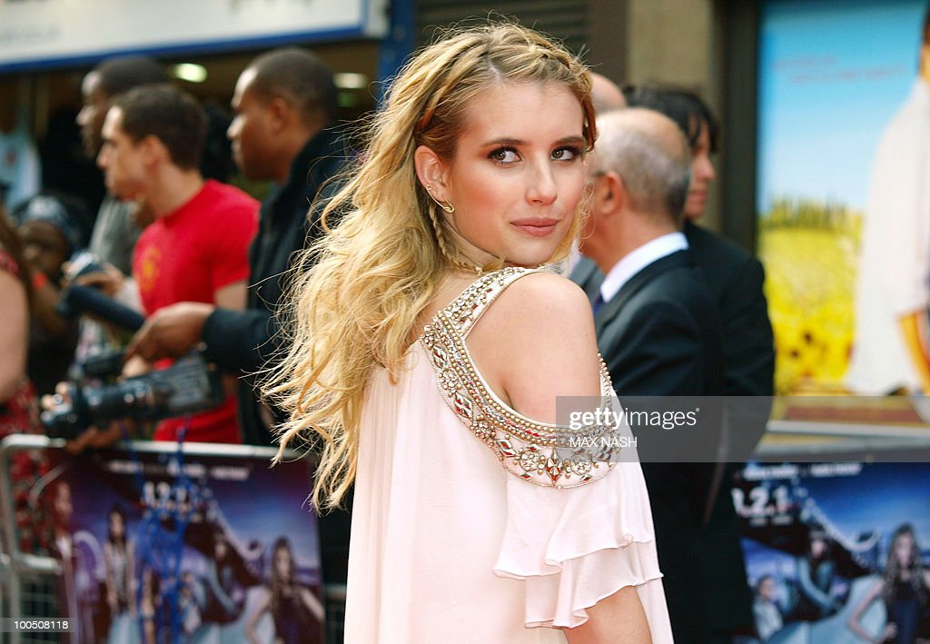 US actress Emma Roberts arrives at the World Premiere of her latest film, '4.3.2.1' in London's Leicester Square on May 25, 2010. AFP Photo/MAX