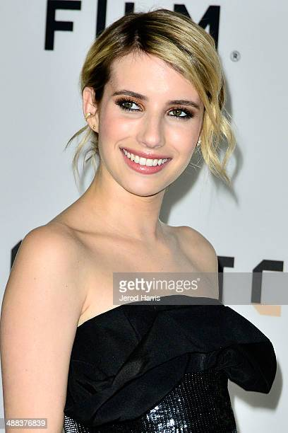 Actress Emma Roberts arrives at Tribeca Film's 'Palo Alto' Los Angeles Premiere on May 5 2014 in Los Angeles California