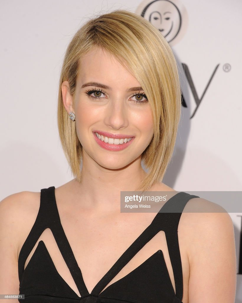 Actress <a gi-track='captionPersonalityLinkClicked' href=/galleries/search?phrase=Emma+Roberts&family=editorial&specificpeople=226535 ng-click='$event.stopPropagation()'>Emma Roberts</a> attends ELLE's Annual Women in Television Celebration at Sunset Tower on January 22, 2014 in West Hollywood, California.