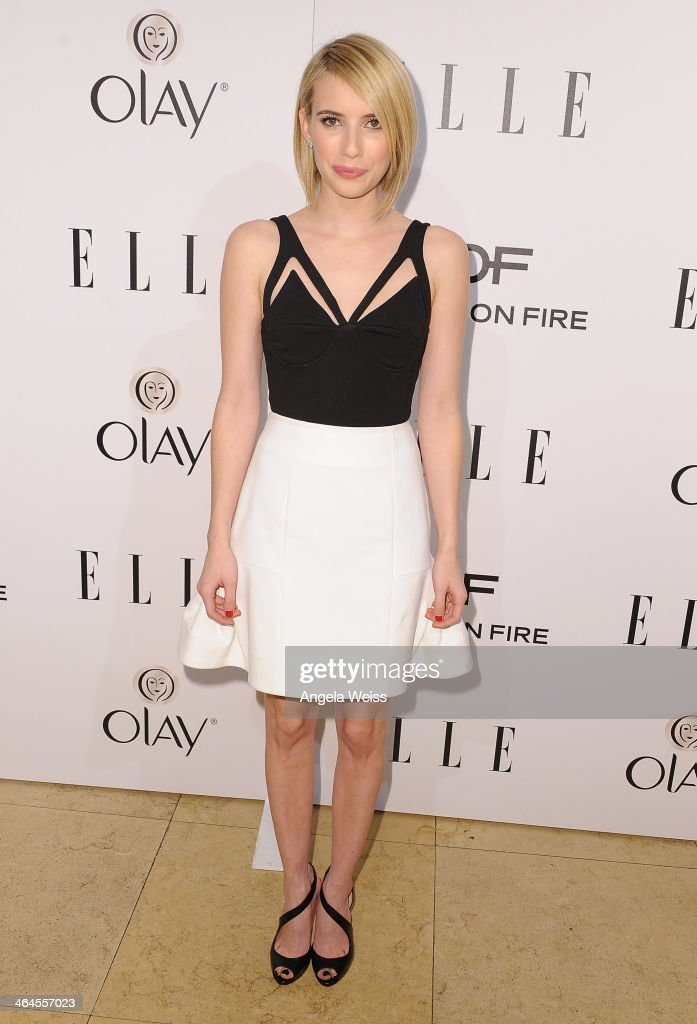 Actress Emma Roberts attends ELLE's Annual Women in Television Celebration at Sunset Tower on January 22, 2014 in West Hollywood, California.