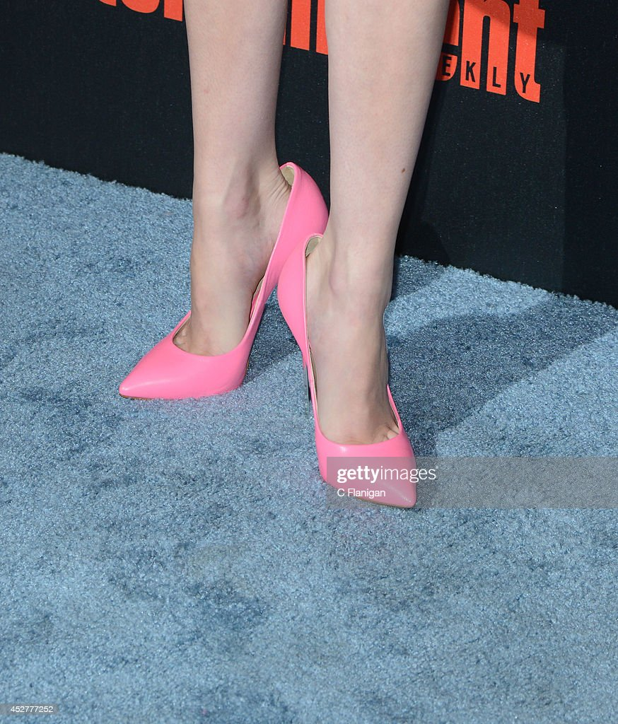 Actress Emma Roberts (shoe detail) attends Entertainment Weekly's annual Comic-Con celebration at Float at Hard Rock Hotel San Diego on July 26, 2014 in San Diego, California.