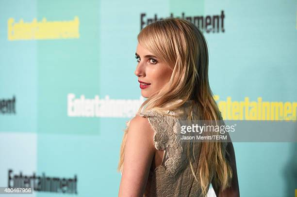 Actress Emma Roberts attends Entertainment Weekly's ComicCon 2015 Party sponsored by HBO Honda Bud Light Lime and Bud Light Ritas at FLOAT at The...