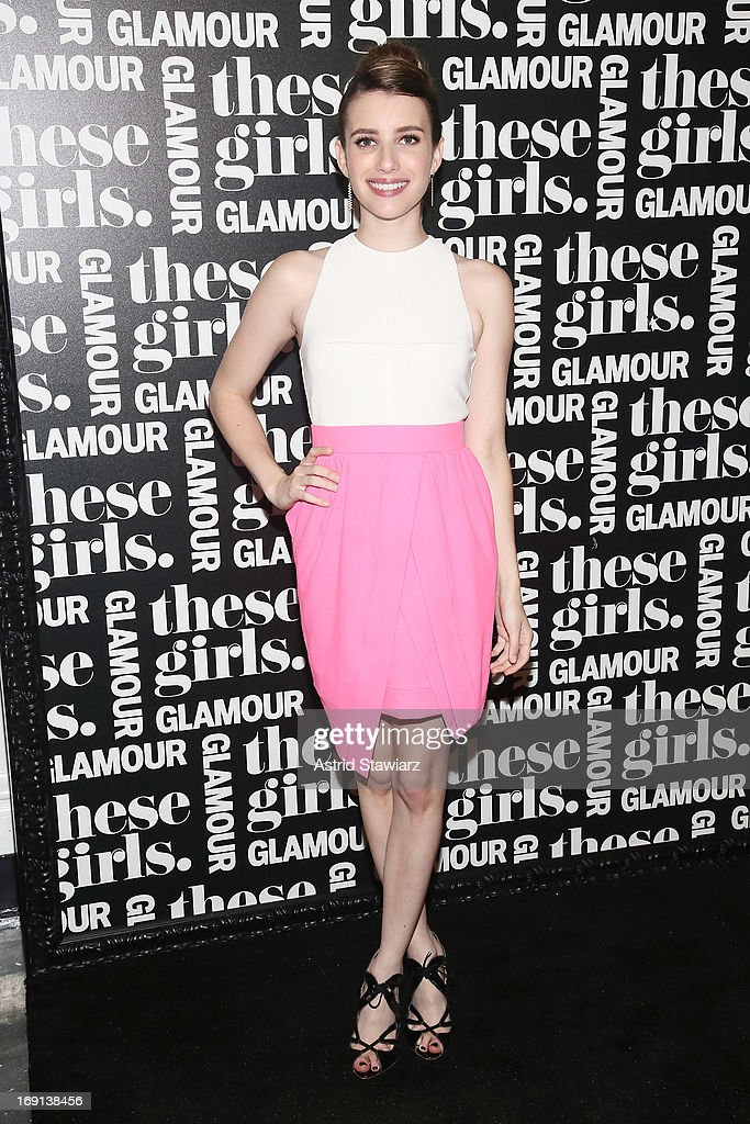 Actress <a gi-track='captionPersonalityLinkClicked' href=/galleries/search?phrase=Emma+Roberts&family=editorial&specificpeople=226535 ng-click='$event.stopPropagation()'>Emma Roberts</a> attends Glamour's presentation of 'These Girls' at Joe's Pub on May 20, 2013 in New York City.