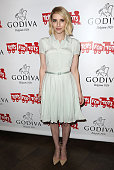 Actress Emma Roberts attends Godiva's 'Hot Chocolate For a Cause' at Godiva Chocolatier on December 1 2015 in Los Angeles California