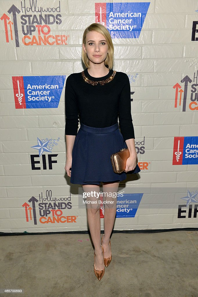 Actress Emma Roberts attends Hollywood Stands Up To Cancer Event with contributors American Cancer Society and Bristol Myers Squibb hosted by Jim...