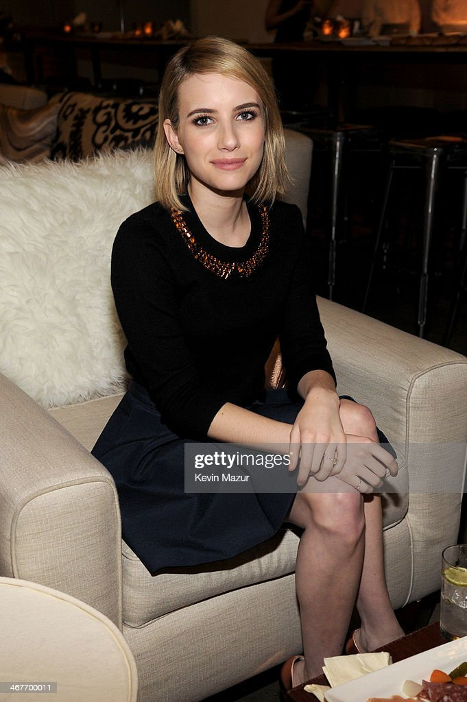Actress Emma Roberts attends Hollywood Stands Up To Cancer Event with contributors American Cancer Society and Bristol Myers Squibb hosted by Jim Toth and Reese Witherspoon and the Entertainment Industry Foundation on Tuesday, January 28, 2014 in Culver City, California.