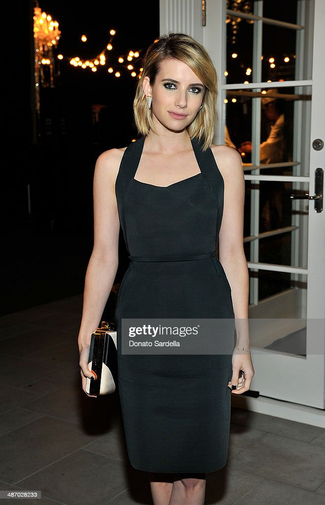 Actress Emma Roberts attends Lanvin And Living Beauty Host An Evening Of Fashion on April 26, 2014 in Beverly Hills, California.