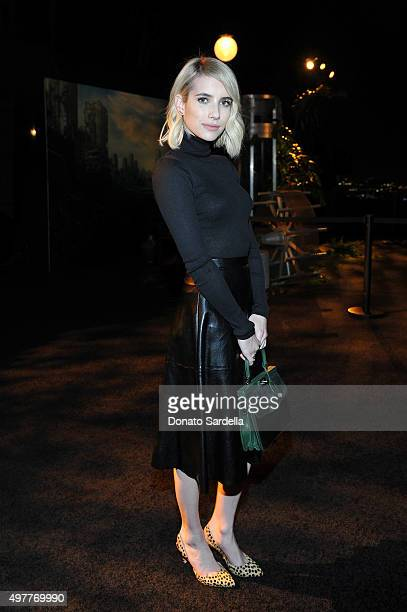 Actress Emma Roberts attends Louis XIII Celebration of '100 Years' The Movie You Will Never See starring John Malkovich at a private residence on...