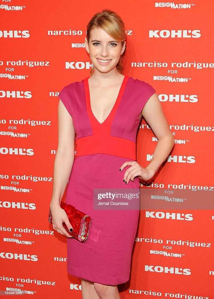 Actress Emma Roberts attends Narciso Rodriguez Kohl's Collection Launch Party at IAC Building on October 22, 2012 in New York City.