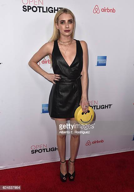Actress Emma Roberts attends the 3rd Annual Airbnb Open Spotlight at Various Locations on November 19 2016 in Los Angeles California