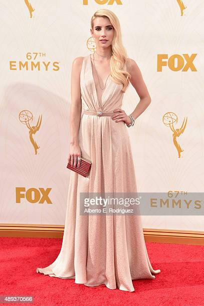 Actress Emma Roberts attends the 67th Emmy Awards at Microsoft Theater on September 20 2015 in Los Angeles California 25720_001