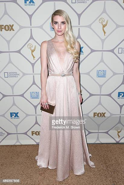 Actress Emma Roberts attends the 67th Primetime Emmy Awards Fox after party on September 20 2015 in Los Angeles California
