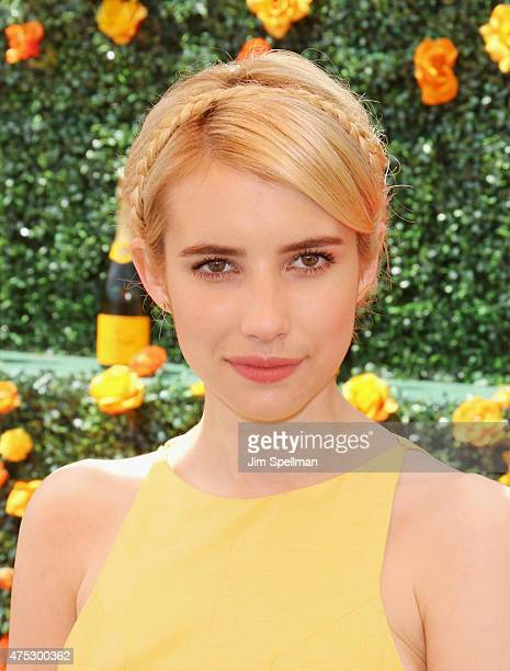 Actress Emma Roberts attends the 8th Annual Veuve Clicquot Polo Classic at Liberty State Park on May 30 2015 in Jersey City New Jersey