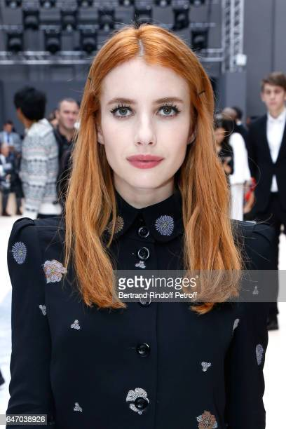 Actress Emma Roberts attends the Chloe show as part of the Paris Fashion Week Womenswear Fall/Winter 2017/2018 on March 2 2017 in Paris France