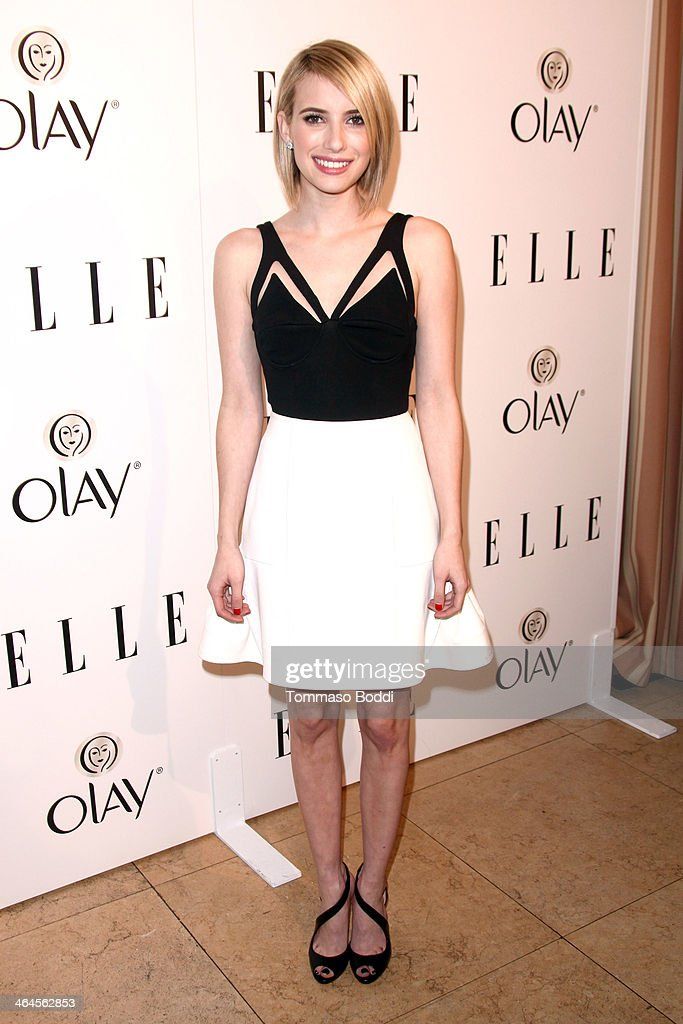 Actress Emma Roberts attends the ELLE Women In Television Celebration held at the Sunset Tower on January 22, 2014 in West Hollywood, California.