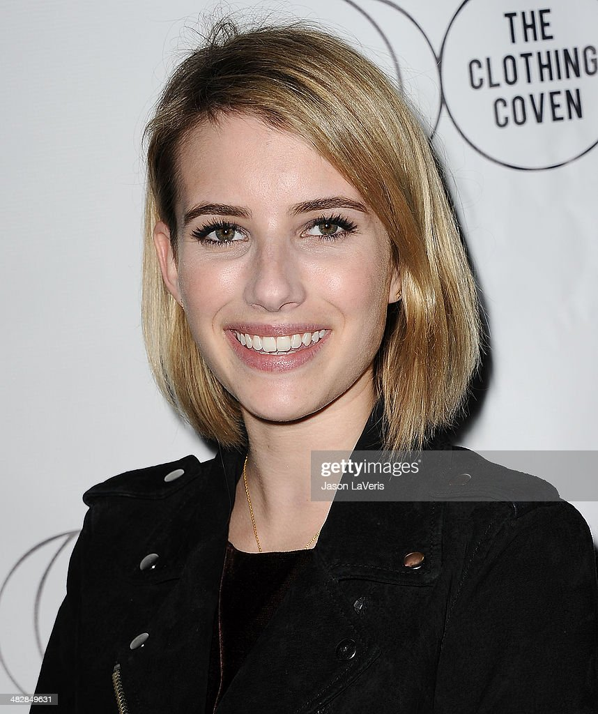 Actress Emma Roberts attends the launch of 'The Clothing Coven' at Elodie K. on April 4, 2014 in West Hollywood, California.