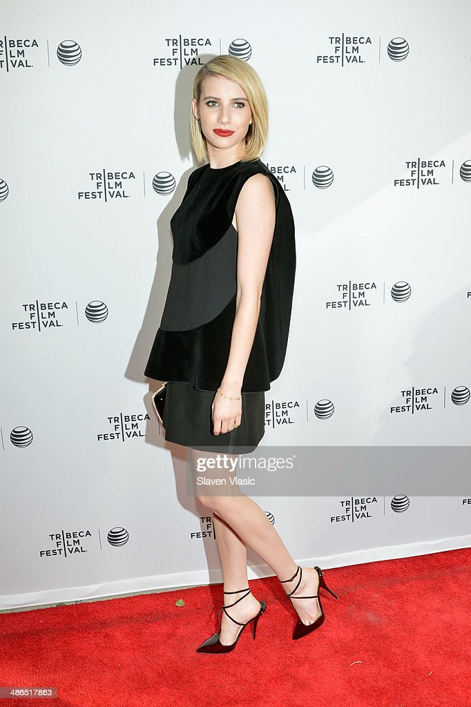 Actress <a gi-track='captionPersonalityLinkClicked' href=/galleries/search?phrase=Emma+Roberts&family=editorial&specificpeople=226535 ng-click='$event.stopPropagation()'>Emma Roberts</a> attends the 'Palo Alto' Premiere during the 2014 Tribeca Film Festival at the SVA Theater on April 24, 2014 in New York City.