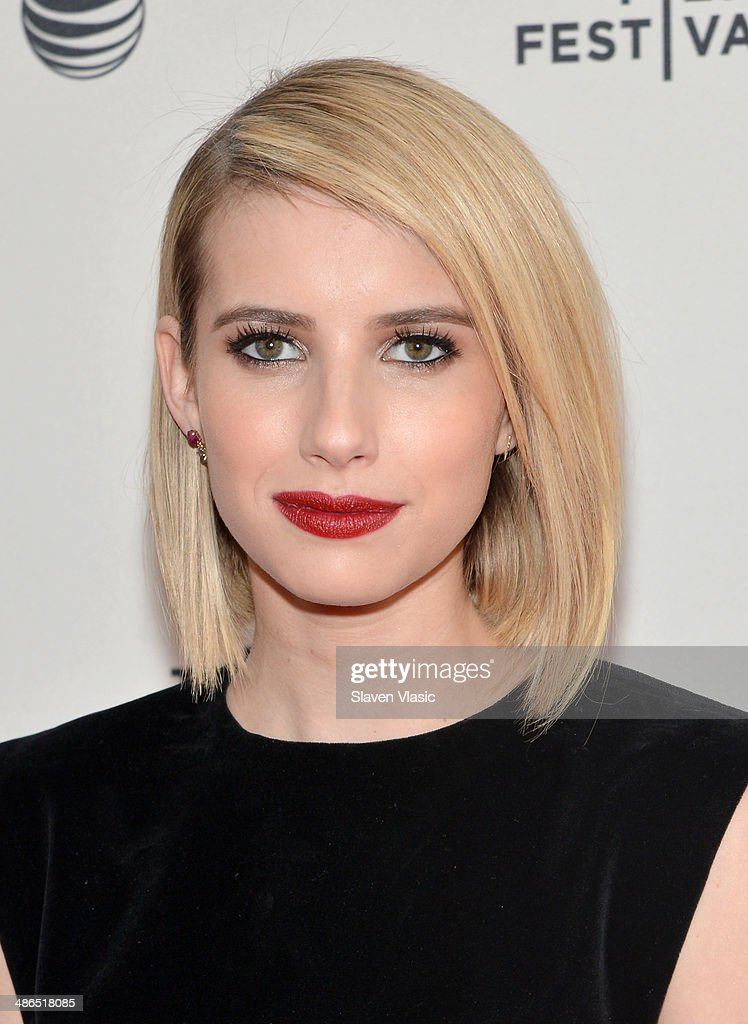 Actress Emma Roberts attends the 'Palo Alto' Premiere during the 2014 Tribeca Film Festival at the SVA Theater on April 24, 2014 in New York City.