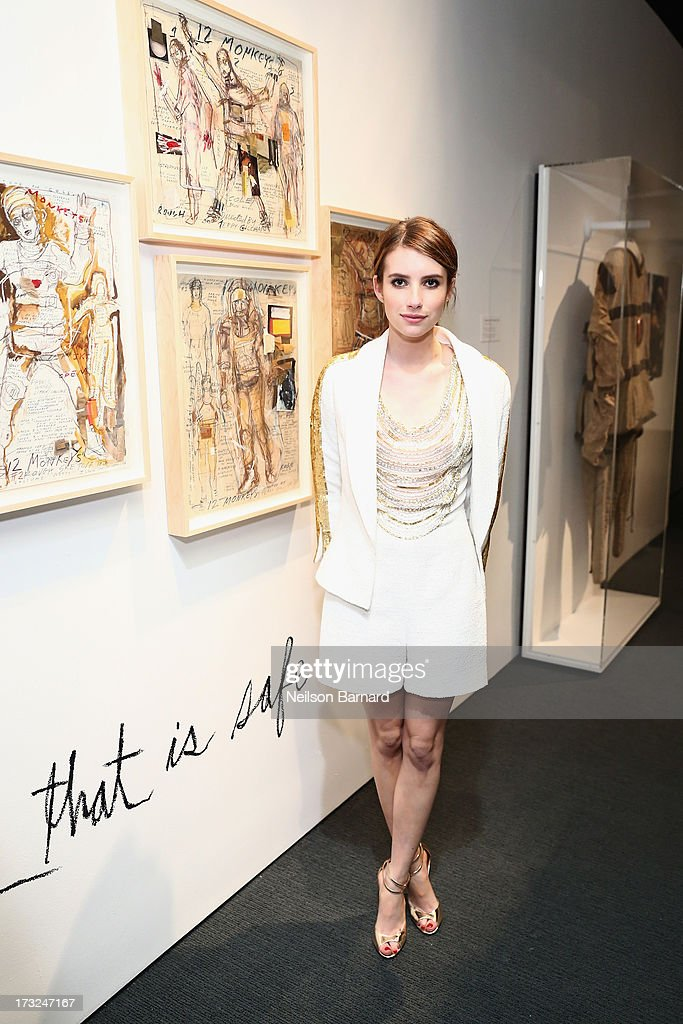 Actress <a gi-track='captionPersonalityLinkClicked' href=/galleries/search?phrase=Emma+Roberts&family=editorial&specificpeople=226535 ng-click='$event.stopPropagation()'>Emma Roberts</a> attends the Persol Magnificent Obsessions event honoring Julie Weiss and Jeannine Oppewall at the MMI on July 10, 2013 in New York City.