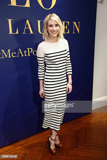 Actress Emma Roberts attends the Polo Ralph Lauren Fall 2016 during New York Fashion Week on February 12 2016 in New York City