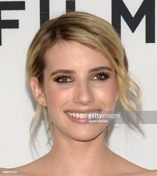 Actress Emma Roberts attends the premiere of Tribeca Film's 'Palo Alto' at Directors Guild Of America on May 5 2014 in Los Angeles California