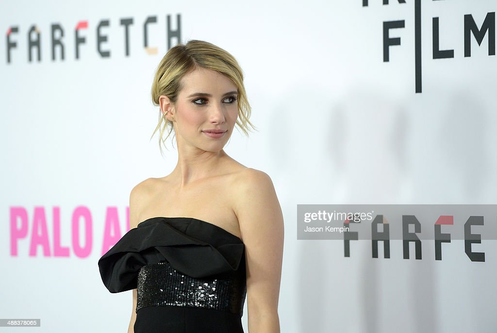 Actress Emma Roberts attends the premiere of Tribeca Film's 'Palo Alto' at Directors Guild Of America on May 5, 2014 in Los Angeles, California.