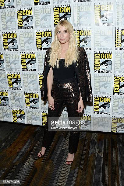 Actress Emma Roberts attends the 'Scream Queens' press line during ComicCon International at Hilton Bayfront on July 22 2016 in San Diego California