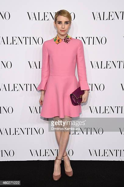 Actress Emma Roberts attends the Valentino Sala Bianca 945 Event on December 10 2014 in New York City