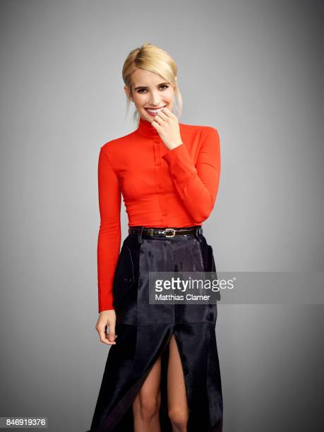Actress Emma Roberts from 'Nerve' is photographed for Entertainment Weekly Magazine on July 21 2016 at Comic Con in the Hard Rock Hotel in San Diego...