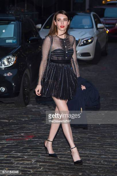 Actress Emma Roberts is seen in SoHo on April 27 2017 in New York City