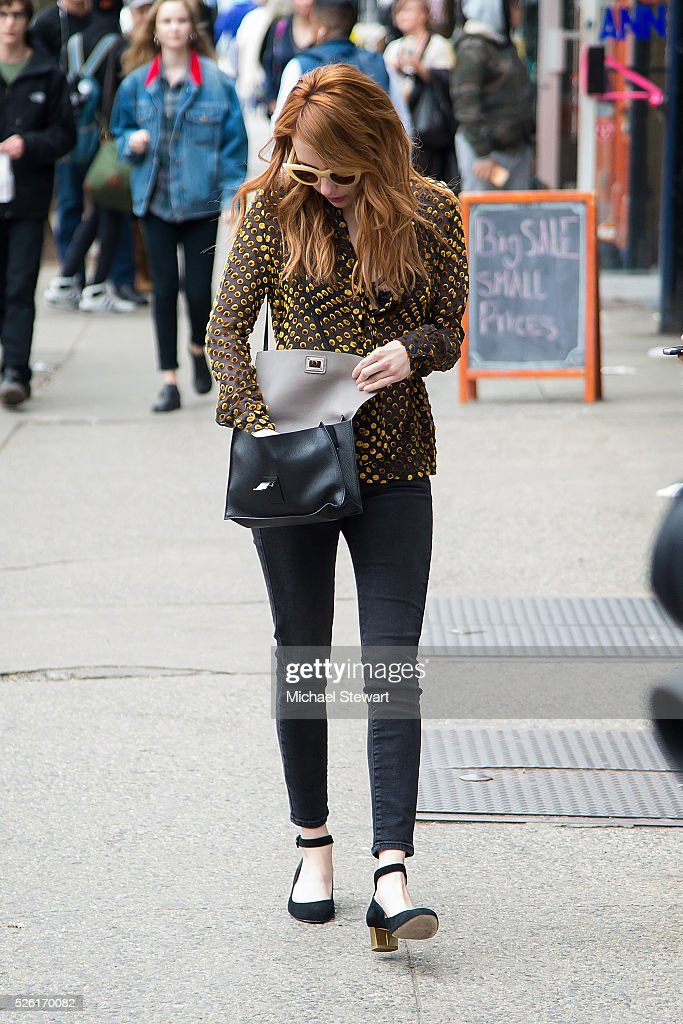 Actress <a gi-track='captionPersonalityLinkClicked' href=/galleries/search?phrase=Emma+Roberts&family=editorial&specificpeople=226535 ng-click='$event.stopPropagation()'>Emma Roberts</a> is seen in the East Village on April 29, 2016 in New York City.