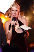 Actress Emma Roberts on stage at the MTV Fandom Awards San Diego at PETCO Park on July 21 2016 in San Diego California