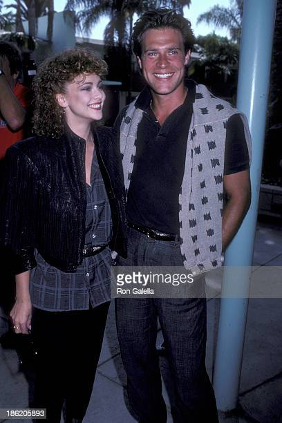 Actress Emma Samms and actor John James attend 'The Colbys' Season Two Premiere Cocktail Reception on August 15 1986 at the Hollywood Roosevelt Hotel...