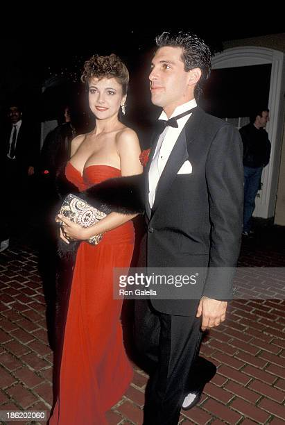 Actress Emma Samms and boyfriend David Corwin attend the 12th Annual People's Choice Awards After Party Hosted by Aaron Spelling on March 11 1986 at...