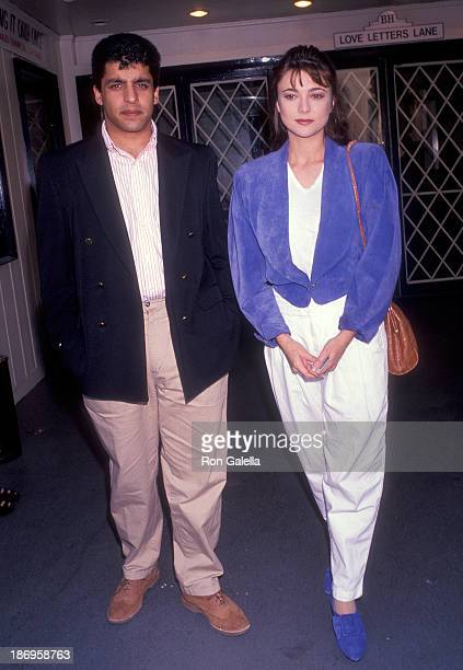Actress Emma Samms and husband Bansi Nagji attend 'Love Letters' Closing Night Play Performance on August 4 1991 at the Canon Theatre in Beverly...