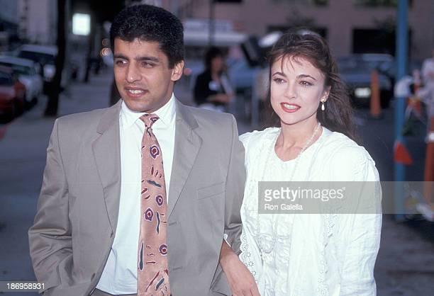Emma Samms with her first husband Bansi Nagji