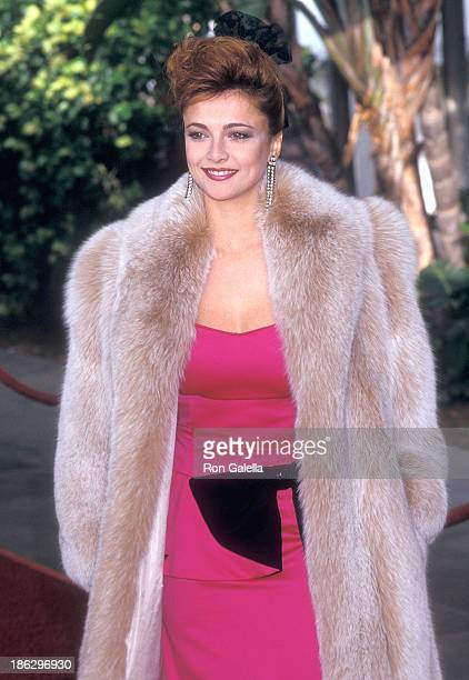 Actress Emma Samms attends the 13th Annual People's Choice Awards on March 15 1987 at the Santa Monica Civic Auditorium in Santa Monica California