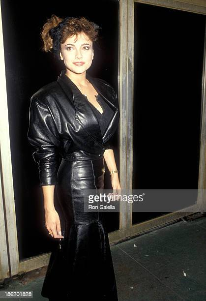 Actress Emma Samms attends the 'Crossroads' Hollywood Premiere on March 7 1986 at the Mann's Chinese Theatre in Hollywood California