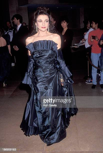 Actress Emma Samms attends the Eighth Annual Soap Opera Digest Awards on January 10 1992 at the Beverly Hilton Hotel in Beverly Hills California