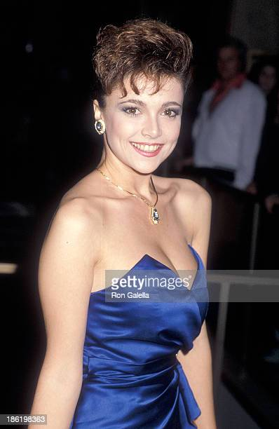 Actress Emma Samms attends the Starlight Children's Foundation's Third Annual Humanitarian of the Year Award Salute on February 14 1986 at the...