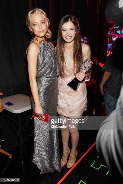 Actress Emma Stone and Actress Hailee Steinfeld during the 16th annual Critics' Choice Movie Awards at the Hollywood Palladium on January 14 2011 in...