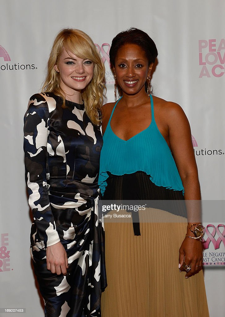 Actress Emma Stone and Malaak Compton-Rock attend the 2013 Peace, Love & A Cure Triple Negative Breast Cancer Foundation Benefit on May 21, 2013 in Cresskill, New Jersey.