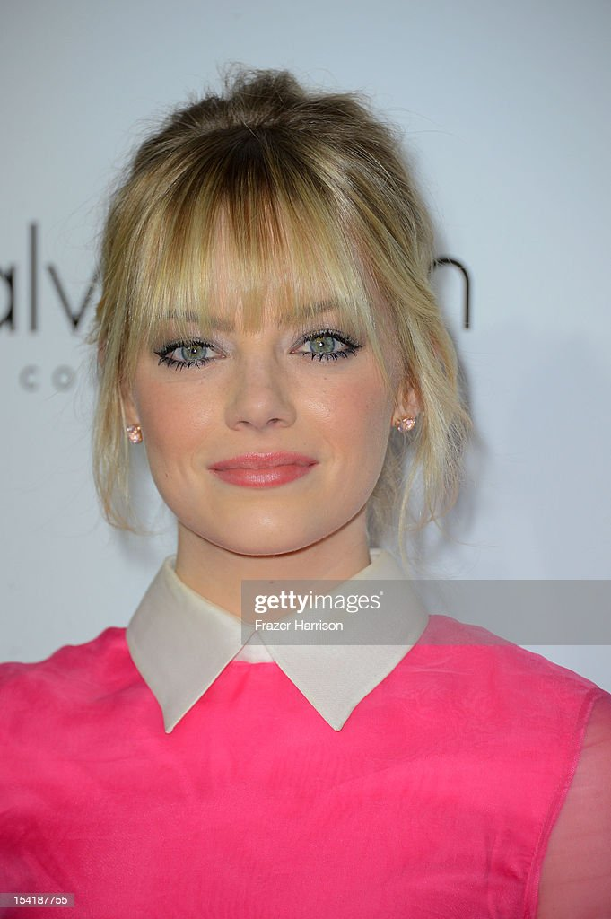 Actress Emma Stone arrives at ELLE's 19th Annual Women In Hollywood Celebration at the Four Seasons Hotel on October 15, 2012 in Beverly Hills, California.