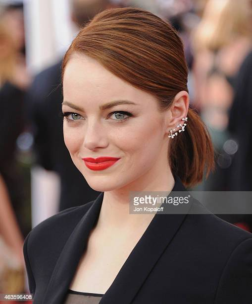 Actress Emma Stone arrives at the 21st Annual Screen Actors Guild Awards at The Shrine Auditorium on January 25 2015 in Los Angeles California