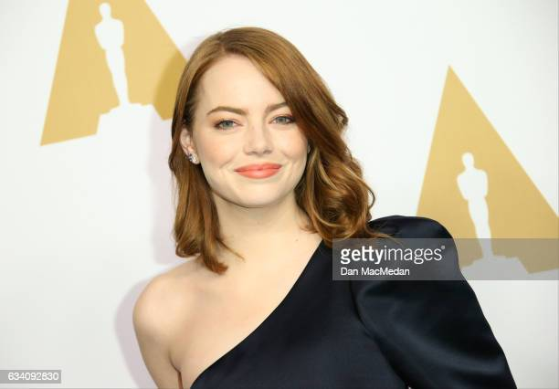 Actress Emma Stone arrives at the 89th Annual Academy Awards Nominee Luncheon at The Beverly Hilton Hotel on February 6 2017 in Beverly Hills...