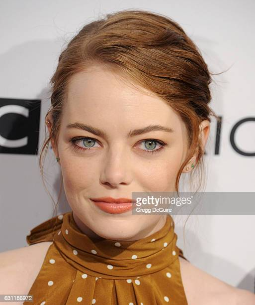 Actress Emma Stone arrives at The BAFTA Tea Party at Four Seasons Hotel Los Angeles at Beverly Hills on January 7 2017 in Los Angeles California