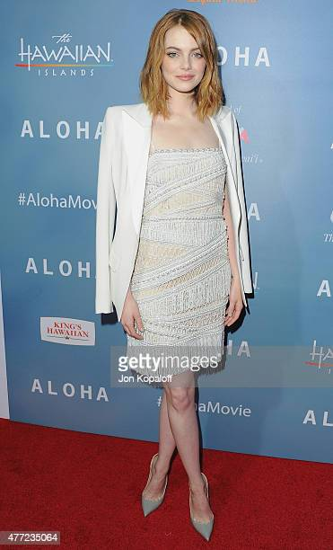 Actress Emma Stone arrives at the Los Angeles Premiere 'Aloha' at The London West Hollywood on May 27 2015 in West Hollywood California