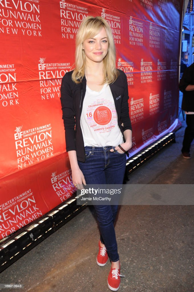 Actress Emma Stone attends 16th Annual EIF Revlon Run Walk For Women on May 4, 2013 in New York City.